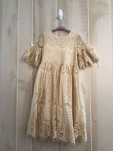 cream dress size 4-6 years