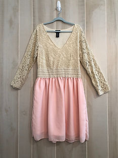 cream lace dress women small_medium