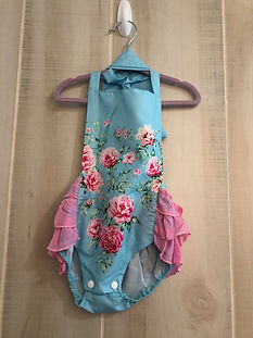 blue floral romper 12 months to 2t