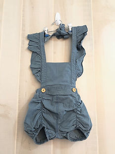 denim romper girls size 12 months to 2t