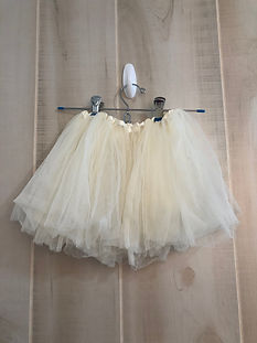 cream tulle skirt 12 months to 3t