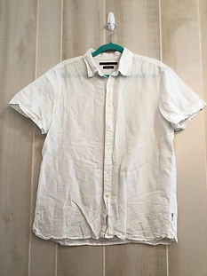 white button up Mens large