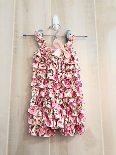 white and pink floral romper size 12 mon