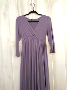 dusty purple dress womens small
