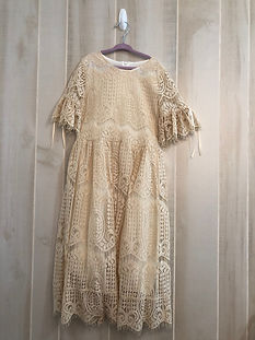 cream lace dress size 10
