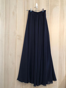 Navy long skirt womens xs-xl