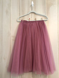 dusty pink knee length skirt size medium