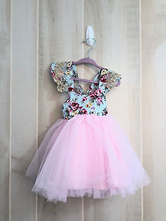 floral and pink tulle dress 12 to 18 mon