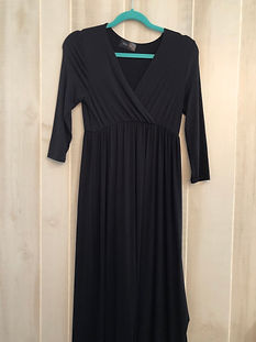 black long dress womens medium