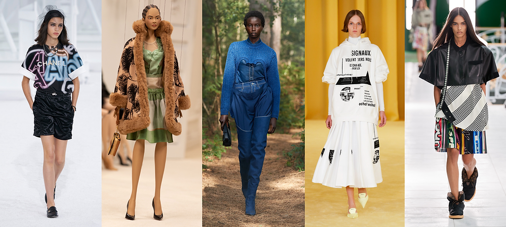 Looks from Chanel, Moschino, Burberry, Prada & Louis Vuitton SS21 Shows