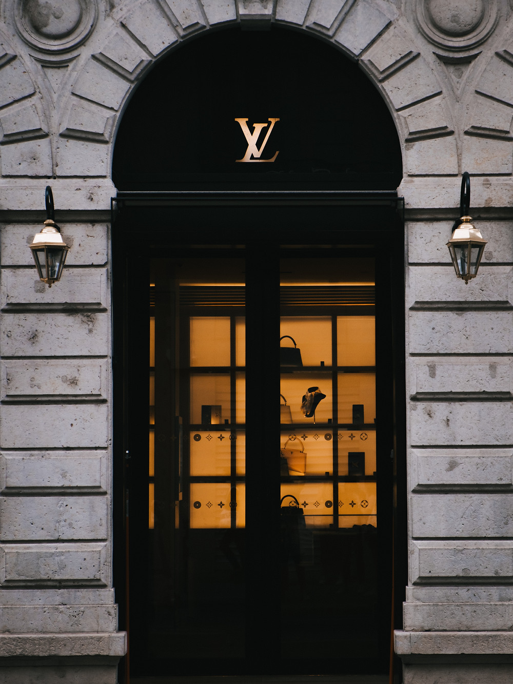 Beautiful doorway to a Louis Vuitton boutique