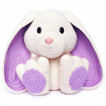Coelho Receita Grátis de Amigurumi de Crochê - Little Bear Crochets | 340x340