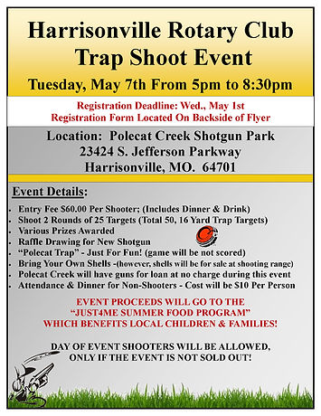Harrisonville Rotary Trap Shoot Flyer_Pa