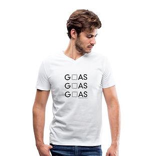 GOAS T-Shirt mit V-Ausschnitt