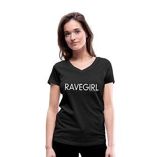 RAVEGIRL T-Shirt V-Ausschnitt