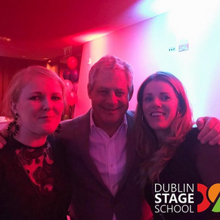 Evan and Emma from Dublin Stage School meet Sir Cameron Anthony Mackintosh British theatrical produc