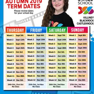 AUTUMN 2019 Term Dates
