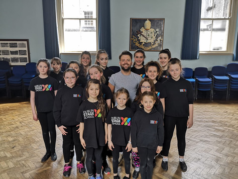 Mikey Jay Heath, Westend performer pops in to Dublin Stage School for a Workshop