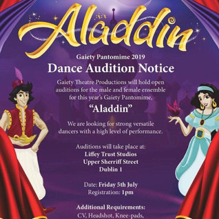 Gaiety Panto Open Auditions (over 18s)