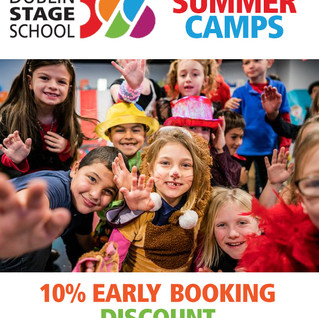 Dublin Stage School SUMMER CAMPS have launched and we are now taking online bookings!