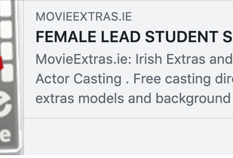 #jobfairy Auditions Starting TODAY!!!! FEMALE LEAD STUDENT SHORT