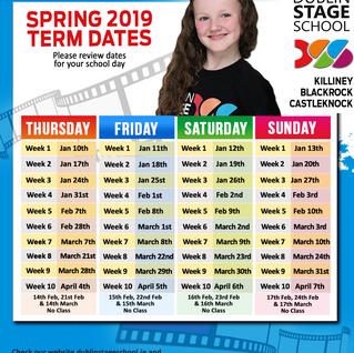 SPRING 2019 Term Dates