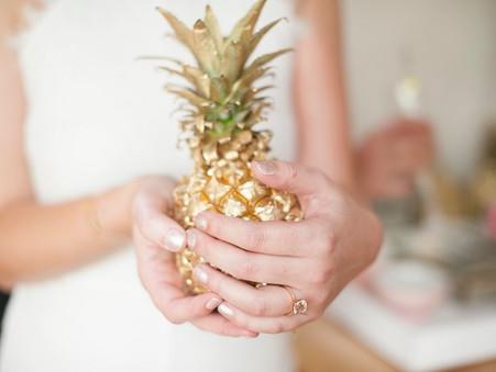 Chic black, Pink & Gold Bridal Shower