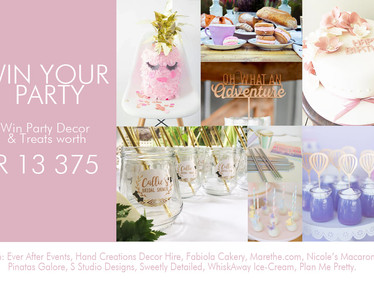Win Party Decor & Treats worth R 13 375