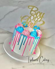 Pink & Blue Gender Reveal Drip Cake.HEIC