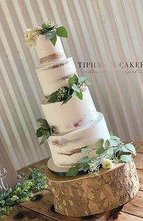Semi Naked Green Wedding Cake