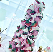 Pink & White Strawberry Tower
