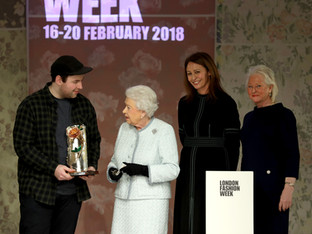 Richard Quinn receives inaugural Queen Elizabeth II Award for British Design