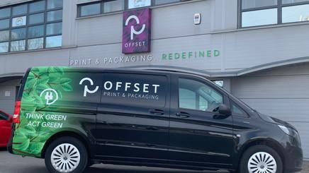 Offset Print wins Antalis Future Focus campaign's electric van