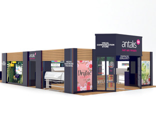Antalis unveils luxury retail store stand concept at Sign & Digital UK