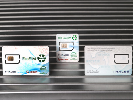 The SIM card made from recycled refrigerators