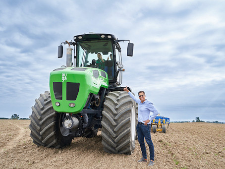 Auga Group pushing innovation with climate friendly tractor