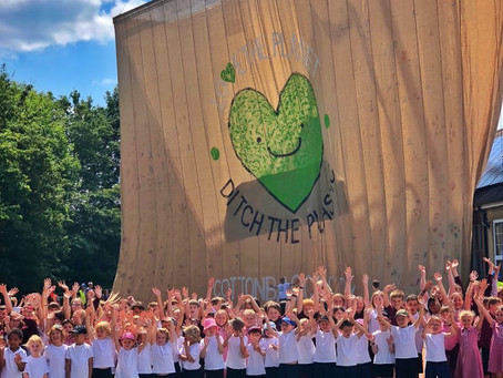 World's biggest Jute Bag created by school kids to encourage people to go plastic free