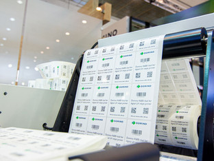 Print over one million unique codes per hour with Domino's K600i