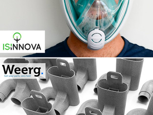 Weerg 3D prints the valves for emergency respiratory masks