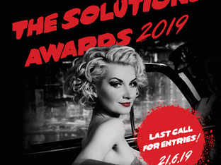 DEADLINE EXTENDED – DON'T MISS OUT: Very last chance to enter The Solutions Awards 2019 – there