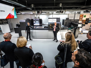 Fujifilm demonstrates business growth opportunities of the new Jet Press 750S