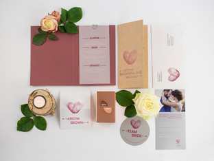 Versafire Wedding Kit: print sample folder provides inspiration for new products
