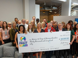 Thirty charities receive donations from Mercia Print '30 Days of Giving' charity