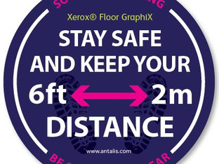 Antalis introduces floor graphic sticker for dry toner print