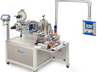Semi-automatic wrap around labeller for healthcare products