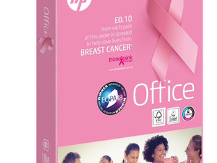 Antalis supports fight against breast cancer with HP Office Pink Ream
