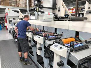 Hamilton Adhesive Labels reduces make ready time with Asahi AWP plates