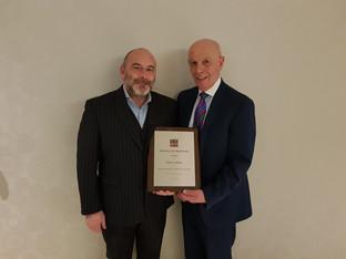 Simon Tabelin awarded top BAPC accolade