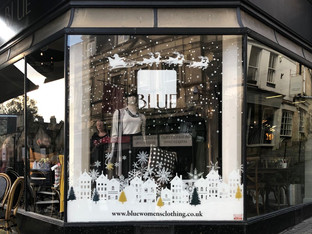 Drytac transforms store window into Christmas wonderland