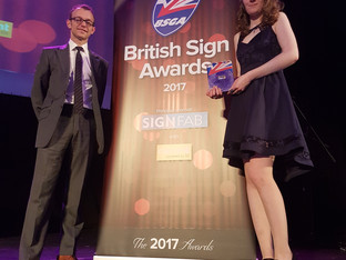 Natasha Berry wins BSGA Young Signmaker of the Year